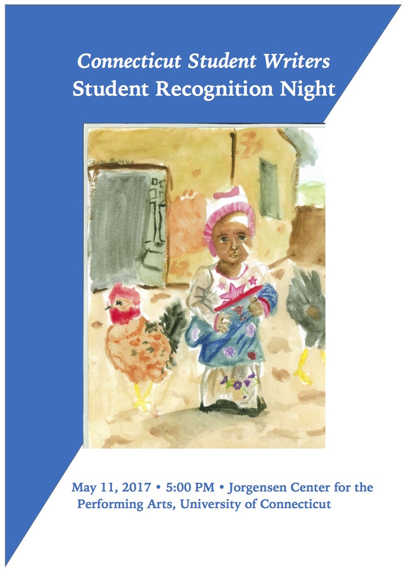 Connecticut Student Writers Student Recognition Night Poster